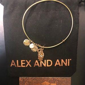 Alex and Ani Tiger Charm Bracelet